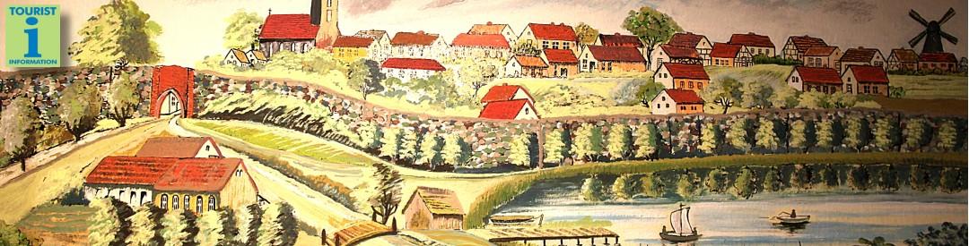 Historische Stadtansicht von Fürstenwerder/Uckermark
