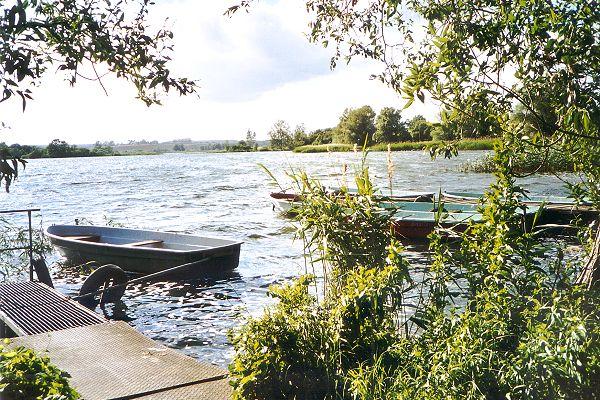 Ruderboote am See