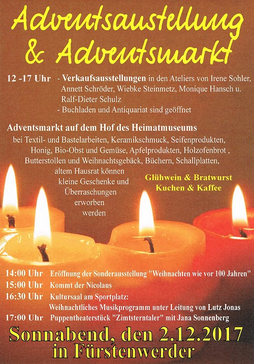 Plakat Fürstenwerder Adventsmarkt