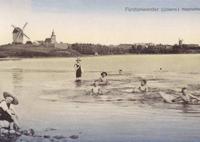 Badende am großen See - 1913