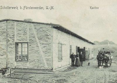 Kantine des Schotterwerks - 1909