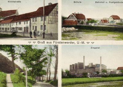 Kirchstraße, Schule, Ziegelei - 1915