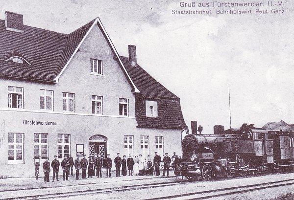 Bahnhof Fürstenwerder, Staatsbahn 1915