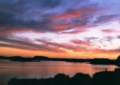 Sonnenuntergang am großen See