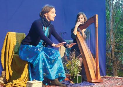 Duo AmbraMyrrha - Märchenerzählerin und Harfenspielerin