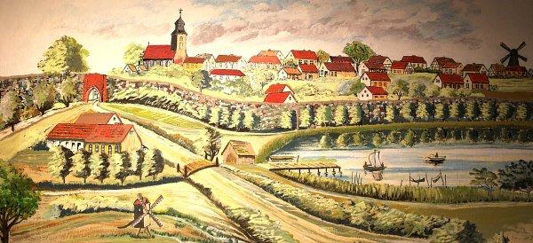 Gemälde vom historischen Fürstenwerder