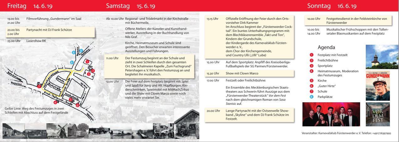 Programm-Flyer 700 Jahre Fürstenwerder