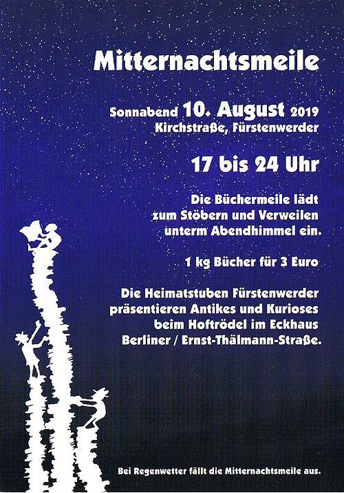 Plakat Mitternachtsmeile Fürstenwerder