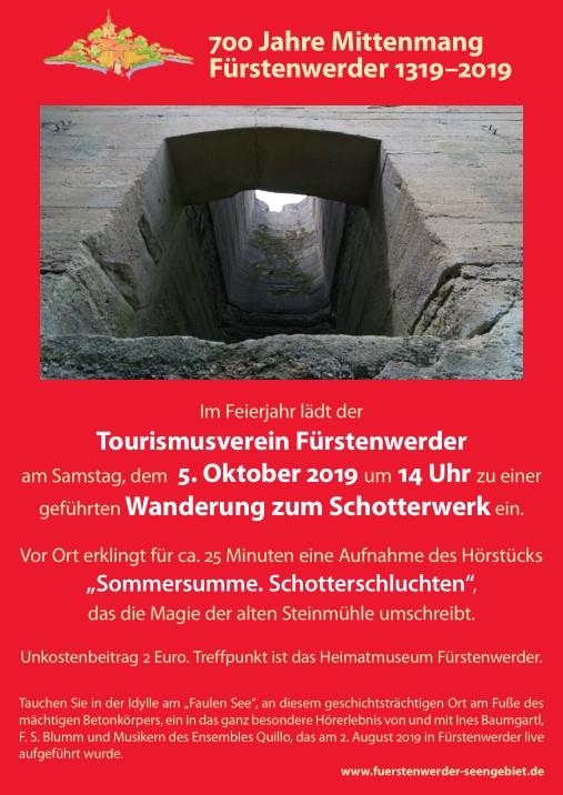Plakat Schotterwerk Hörstück