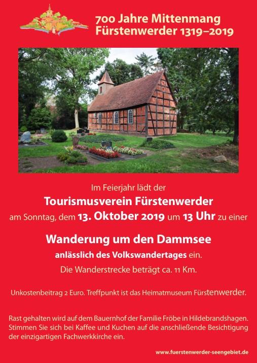Plakat Volkswandertag 2019