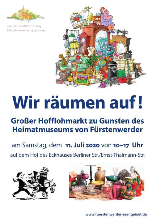 Plakat Hofflohmarkt Juli 2020
