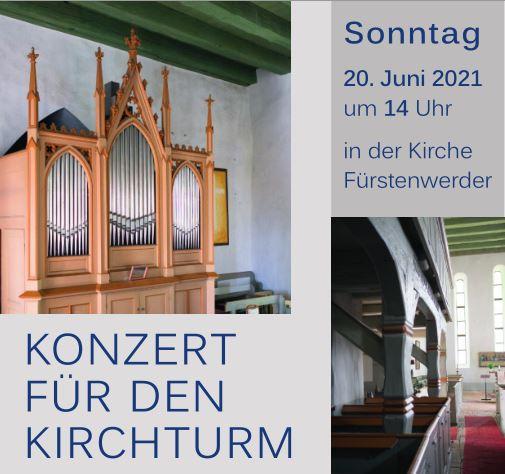 Plakat zum Konzert für den Kirchturm im Juni 2021